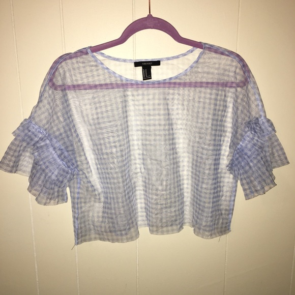 Forever 21 Tops - Sheer Plaid Top